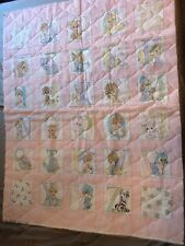 Precious Moments ABC Fabric pre Quilted quilt Alphabet Baby shower blanket