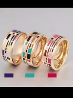 Ladies women's ring luxury Enamel Ring 18 kt Gold Plated
