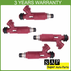 Set of 4 Fuel Injector Nozzle 195500-3310 FJ584 For 1999-2000 Mazda Miata 1.8L