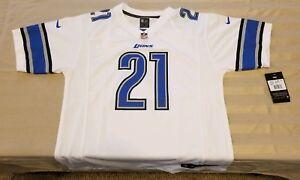 Detroit Lions Official NFL Apparel Youth Size L Reggie Bush Jersey NWT White