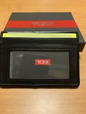 TUMI NWT $50 Alpha SLG Slim Card Case Reflective Bright Lime Wallet ID window