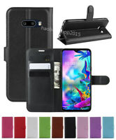 NEW Leather slot wallet stand flip Cover Skin Case For LG G8X ThinQ/V50S ThinQ