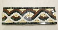 """Stone Boarder Mosaic Tile 4""""x12"""" Marble"""