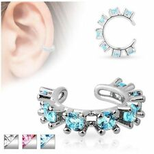 Crystal Brass plated Costume Earrings