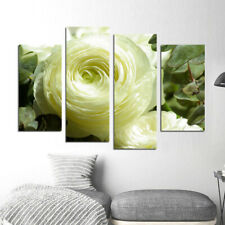 Light Yellow Blooming Flower Wall Art Canvas Painting Giclee Print Decor Picture