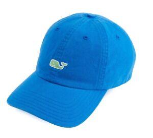 Vineyard Vines Whale Logo EMB Baseball Hat Christmas Azure Blue New