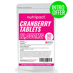Cranberry Juice Supplement 12000mg Tablets Cystitis Urinary Bladder UTI Support