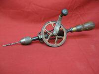 Antique Vintage Goodell Pratt Co Hand Crank Drill