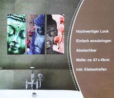 Wellness Wandbild Buddha - Wandtattoo - 3 teilig