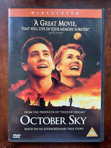 October Sky DVD 1999 True Life Sputnik Rocket Teen Drama w/ Jake Gyllenhaal