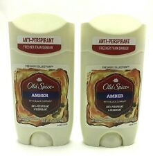 2 Old Spice Amber w/ Black Currant Anti-Perspirant Deodorant Exp. 2020 Lot of 2