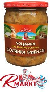 Soljanka mit Weißkohl und Pilzen 480g СОЛЯНКА С ГРИБАМИ Russische Küche DOVGAN
