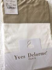Yves Delorme COCON PIERRE BLANC SATIN King Superking FLAT Sheet