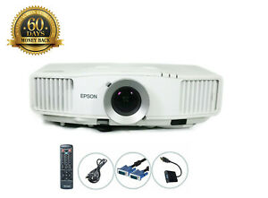 Epson PowerLite Pro G5000 3LCD Projector 4000 ANSI HDMI-adapter Remote