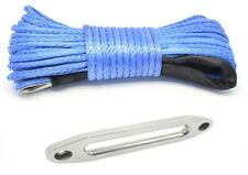 10mm X 30m Dyneema SK78 Winch Rope Aluminium Fairlead - Synthetic Cable 4x4