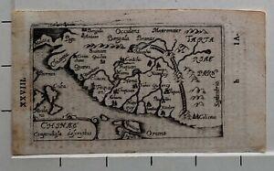 1658 ANTIQUE MAP CHINA GABRIEL BUCELIN CHINAE COMPENDIOSA DESCRIPTIO (ORTELIUS)