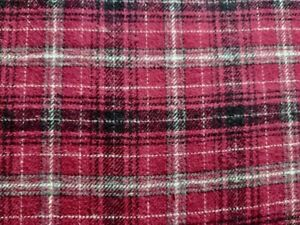 """Red Flannel Plaid 100% Cotton Yarn Dyed Fabric 57"""" Wide Fabric by the Yard"""
