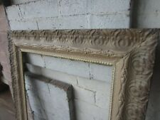 Antique Victorian Gesso Wood Picture frames Pair 23 x 27