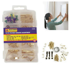 54pcs Assorted Hooks Picture Fitting Wall Mirror Nails Hanging Kit Mounted Metal