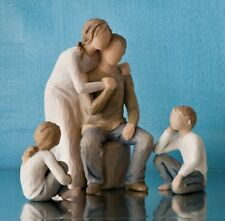 Willow Tree Mother & Father with Son & Daughter Figurine Set Family Group