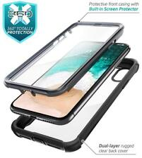 """For Apple iPhone XS MAX Case 6.5"""" i-Blason Ares Full Rugged Clear Bumper Cover"""