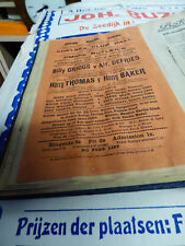 early Boxing handbill c1912 Chelsea Club Hall GRIGGS DEFRIES