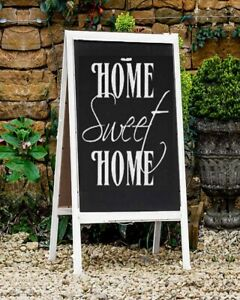 Wooden Chalkboard Easel Sign A Frame Wedding Party Events White