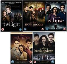 TWILIGHT SAGA 1-5 DVD Set NEW MOON ECLIPSE BREAKING DAWN 2 All 5 Movie Film box