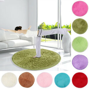 Round Circle Non Slip Floor Carpet Washable Floor Small Rugs Mat Rug Home Decor