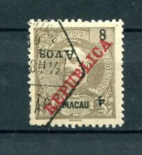 1913 MACAU MACAO CHINA King Carlos w/ surcharge 4A on 8A inverted surcharge