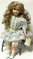 "Vintage Limited Hamilton Collection 22"" CONSTANCE Porcelain Girl Doll In Chair"