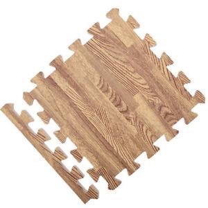 Soft Wood Grain Floor Foam Puzzle Mat for Bedroom Playroom Gym