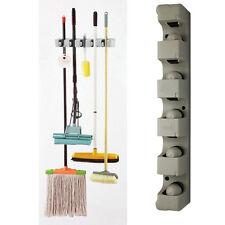 Wall Mounted Mop Holder Brush Broom Hanger Storage Rack Kitchen Device
