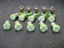 15 BRIGHT Green LED Instrument Panel Dashboard Light Bulbs BA9S 53 1815 AMC GMC