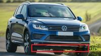 NEW GENUINE VW TOUAREG 15-17 R-LINE FRONT BUMPER CENTER LOWER SPOILER BLACK