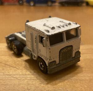 Vintage 1980 Hot Wheels White Kenworth Rare Original Old Car Big Rig Truck FreeS