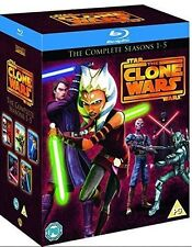 Star Wars-Clone Wars Season 1-5 [Blu Ray] Season 1 2 3 4 5 Box Set