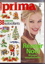 Prima N° 195 Du 01/12/1998 - noel - stickers deco - mode - beauté - recettes