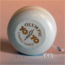 Vintage Collectible Wooden Yo-Yo - Canada Games Olympics-WHITE w/ Gold