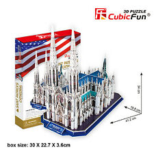 New Saint Patricks Cathedral Church USA 3D Model Jigsaw Puzzle 117 Pieces MC103H
