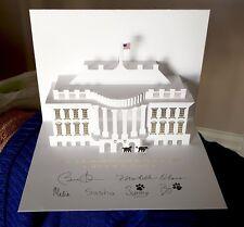 2013 Official Barack Obama White House Pop up Christmas card