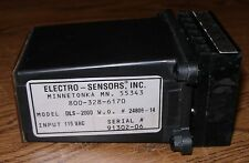 1 NEW ELECTRO-SENSORS DLS-2000 DIGITAL SPEED SWITCH NO PACKAGE 24806-14 115 VAC