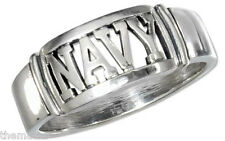 NAVY STERLING SILVER MILITARY BAND RING SIZE 9 10 11 12 13 14