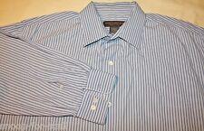 Mens Banana Republic Dress Shirt Size XL L/S  Blue Stripes