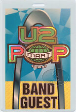 U2 1997 POPMART TOUR LAMINATED BACKSTAGE PASS BONO