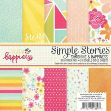 SIMPLE STORIES 6 X 6 PAPER PAD SUNSHINE & HAPPINESS