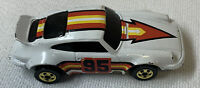 1974 Hot Wheels PORSCHE P-911 white gold blackwall STP Pennzoil