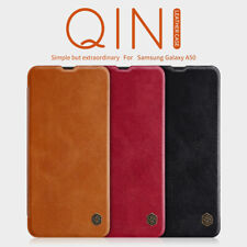 NILLKIN For Samsung A50 A30 A70 A10 QIN Ultra Thin Flip Leather Card Case Cover