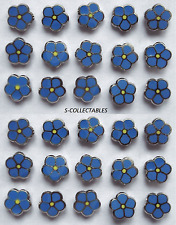 More details for ( 30x ) ✿ tiny masonic 'forget me not' pin badge ✿ chrome/enamel flower, lapel