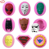 Batman Silicone Fondant Mold Cake Decorating Chocolate Sugarcraft Baking Mould